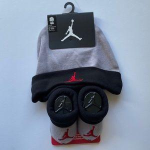 Baby JORDAN Hat and Bootie Socks - 0-6mo